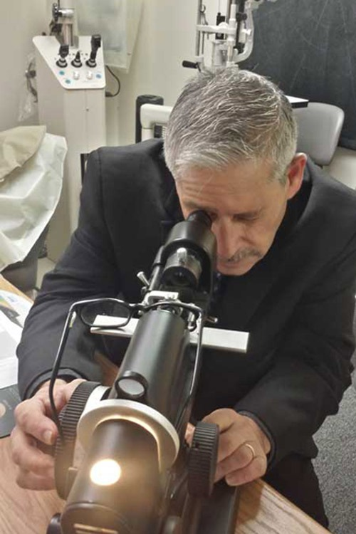 Doug Wohl at work Optical Lens Laboratory