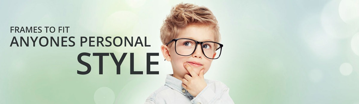 Young Boy Wearing Glasses for Frames that fit Personal Style