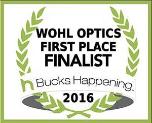 Award 2016 Bucks County Happening First Place Finalist Wohl Optics