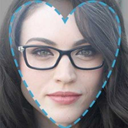 Heart Shape Face Eyeglasses