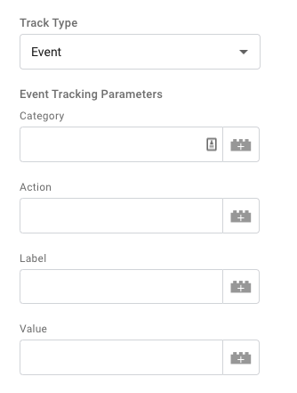 Event tracking parameters explained