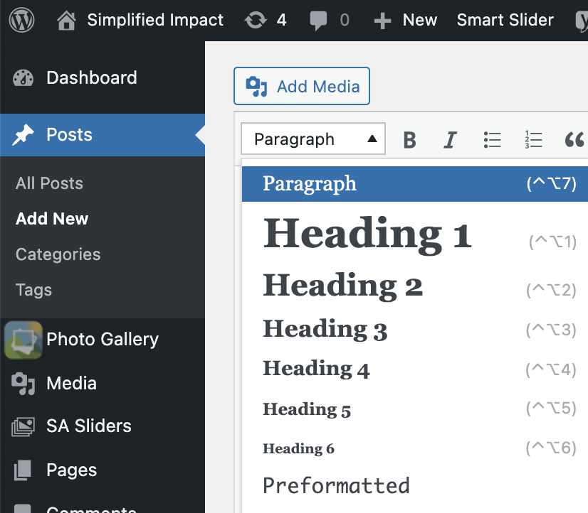 Where to find header tags in wordpress