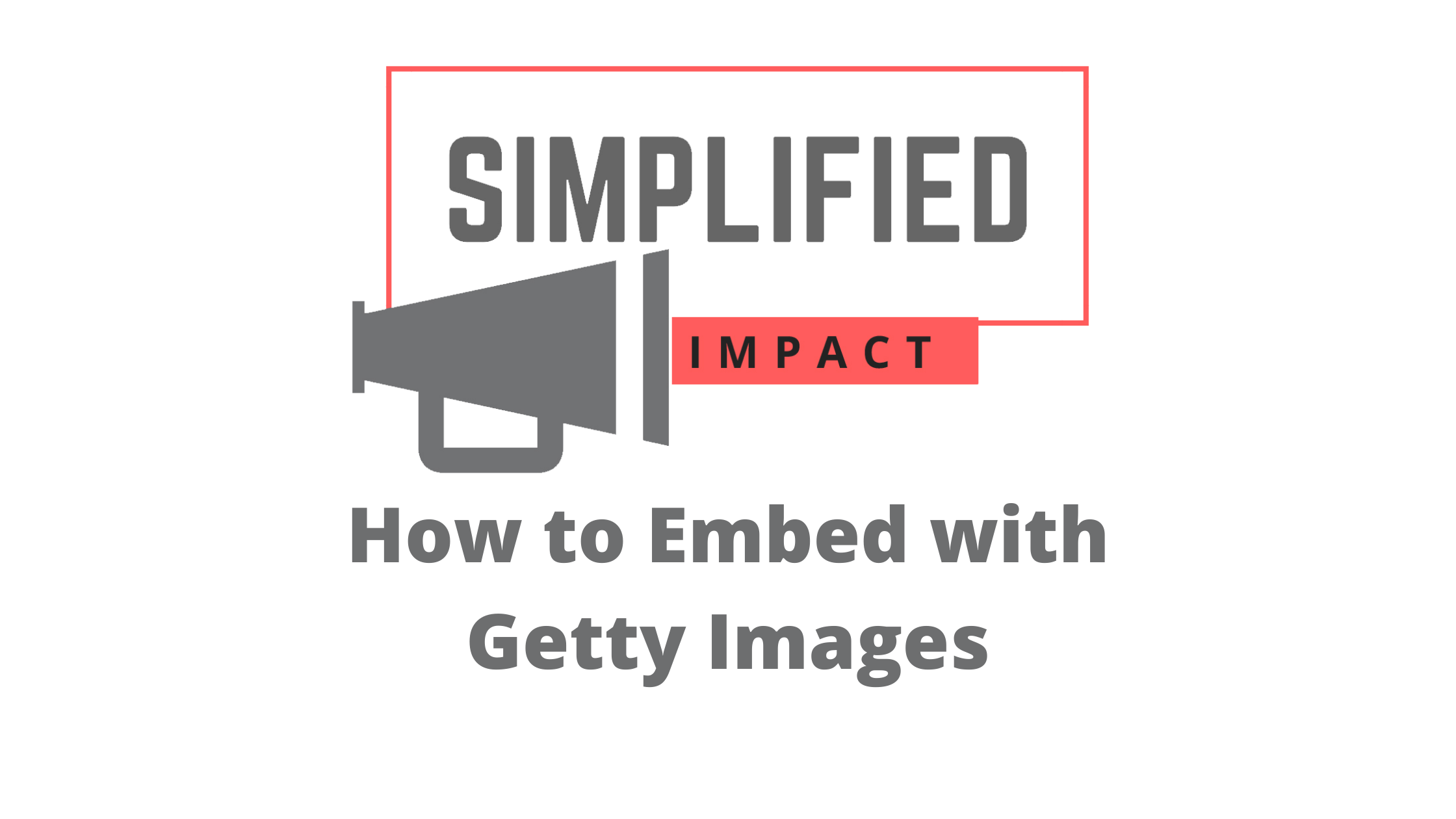 How to embed with Getty Images