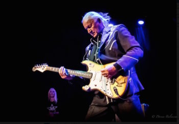 Dick Dale is supported by his loving wife, Lana - Photo © 2015 Donna Balancia