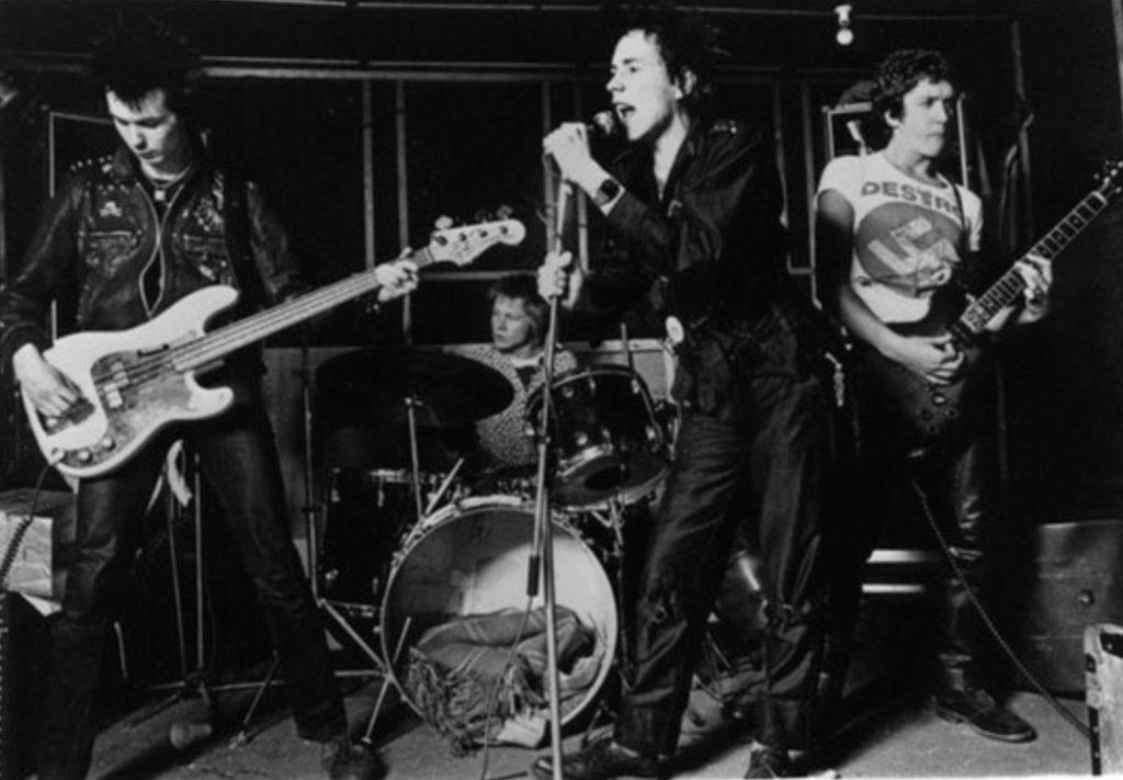 Virgin Promo Pic - Denmark Street rehearsal room, London, March 1977 Photo: Janette Beckman