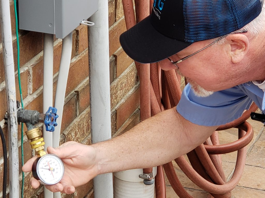 House water pressure test