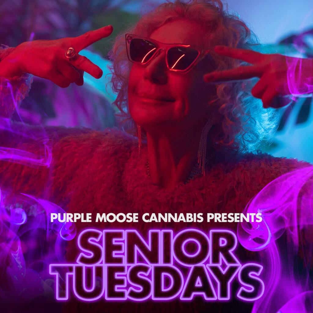 senior tuesdays weekly purplemoose cannabis discount special
