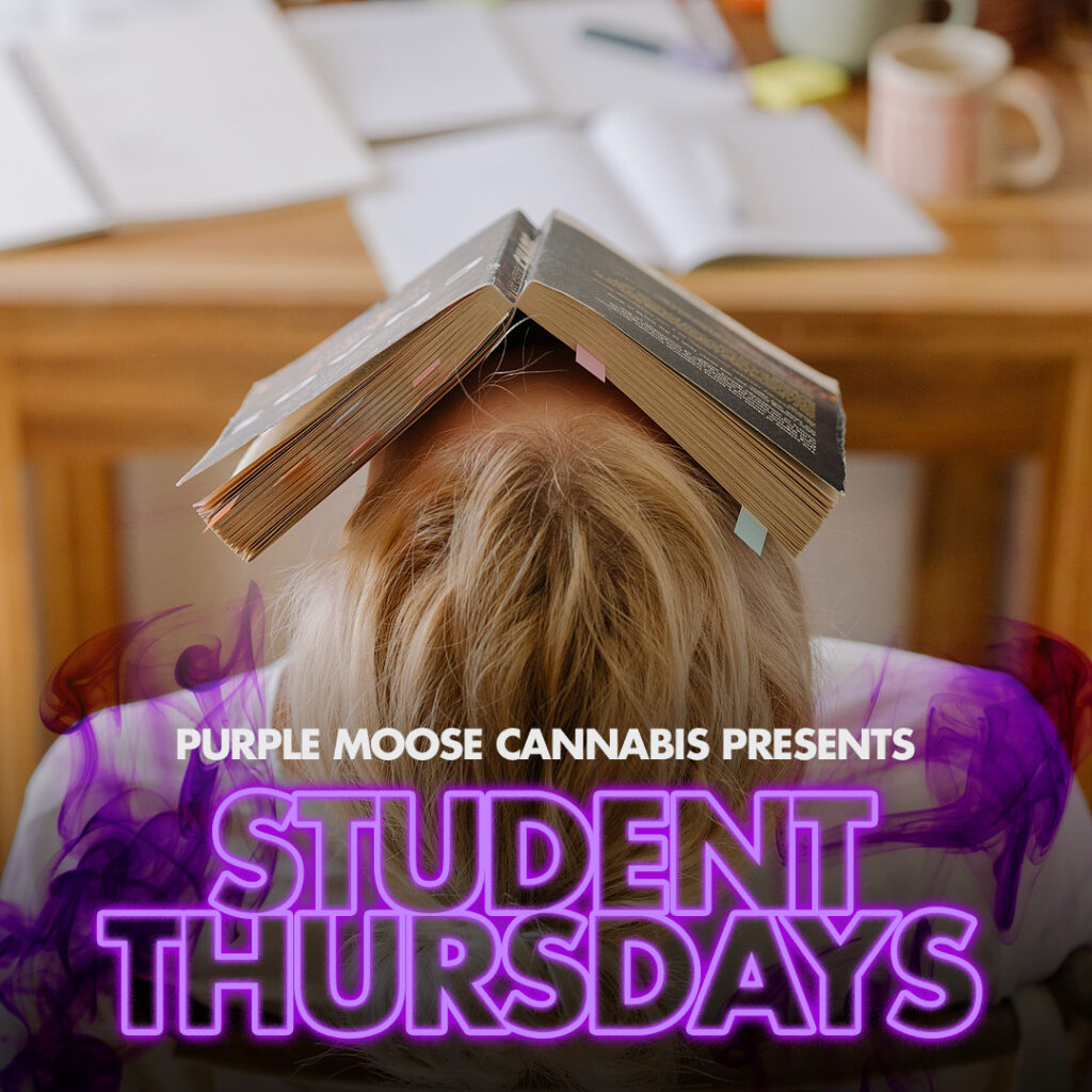 student thursdays weekly purplemoose cannabis discount special