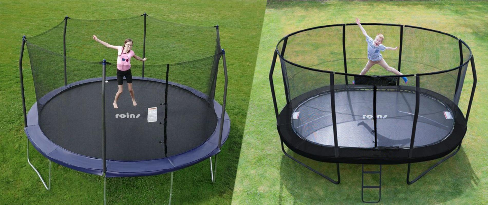oval vs round trampoline