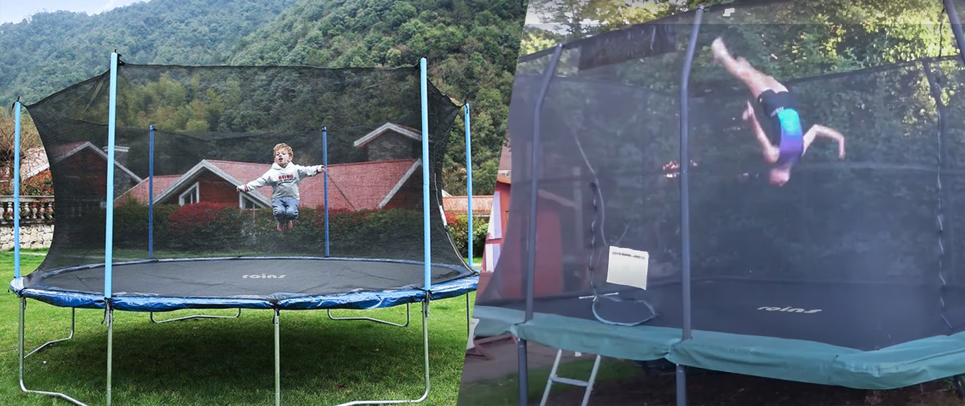 rectangle vs round trampoline