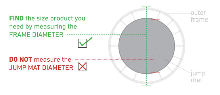 how to measure trampoline mat