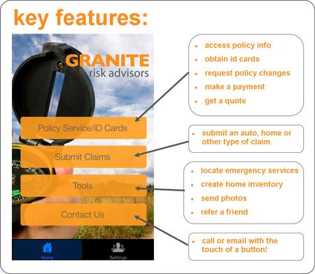 Granite Risk Advisors Mobile App, Insurance