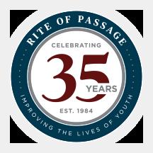 Rite of Passage 35 Year Logo