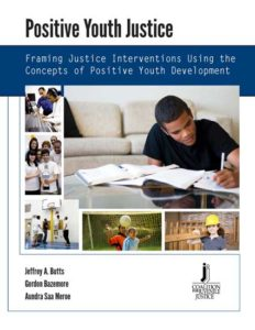 Cover for the Positive Youth Justice article featuring people doing various activities