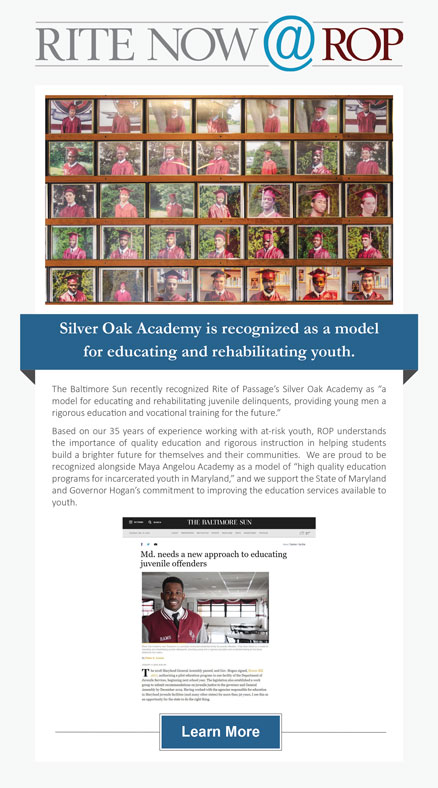 Cover for the Rite Now @ ROP article about Silver Oak Academy