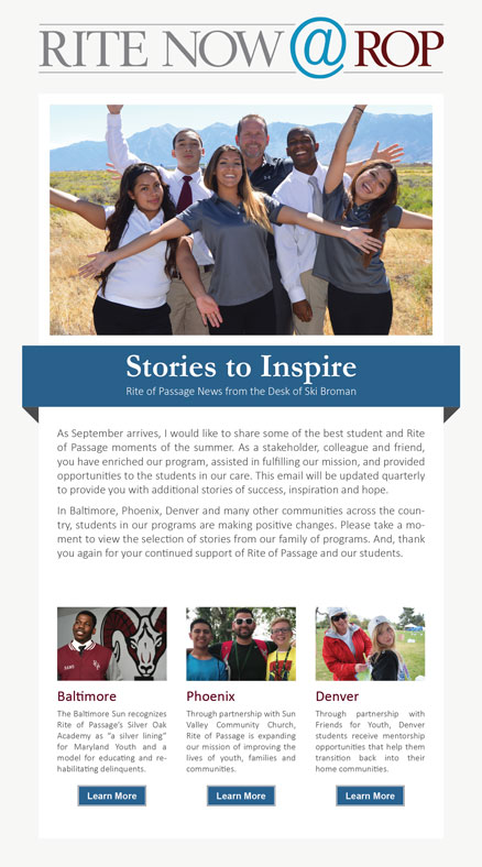 Cover for the Rite Now @ ROP article about Stories to Inspire