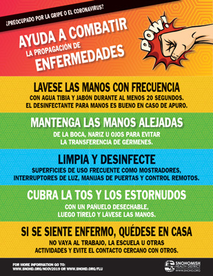 Stop the Spread of Illness Poster in Spanish
