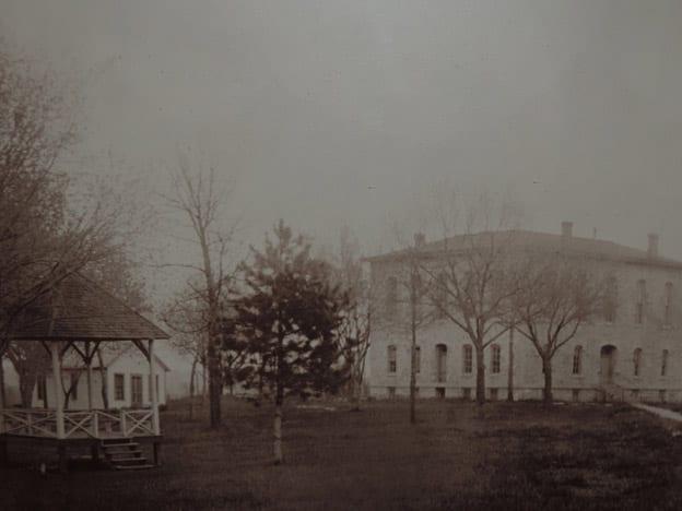 Lane University with gazebo and grounds.