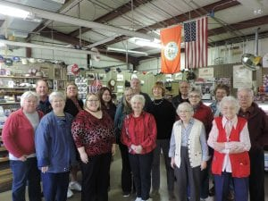 We have fun with our volunteers! The volunteers received a serenade and yummy food for Valentine's Day--because we <3 them!