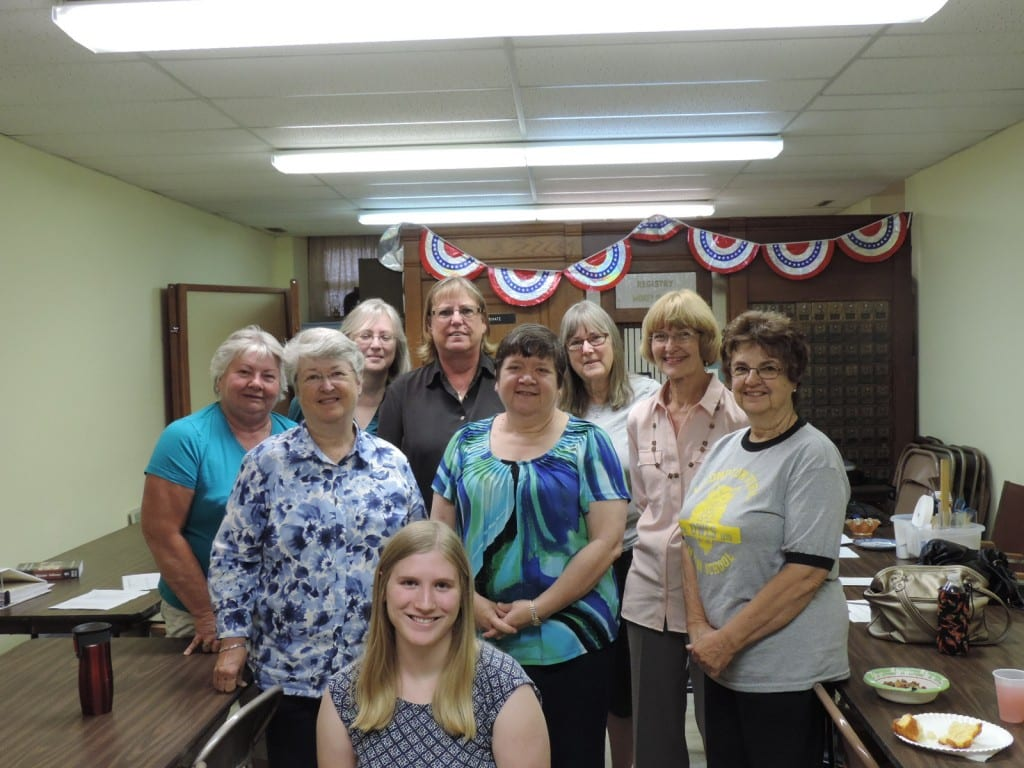 Inventory Volunteers during a training session--and lunch afterwards!