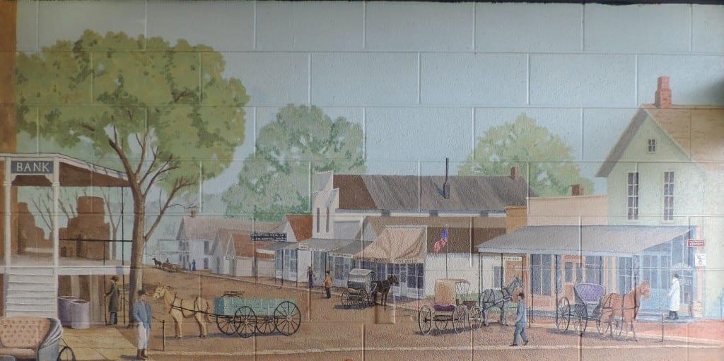 Detail of Post Office Mural