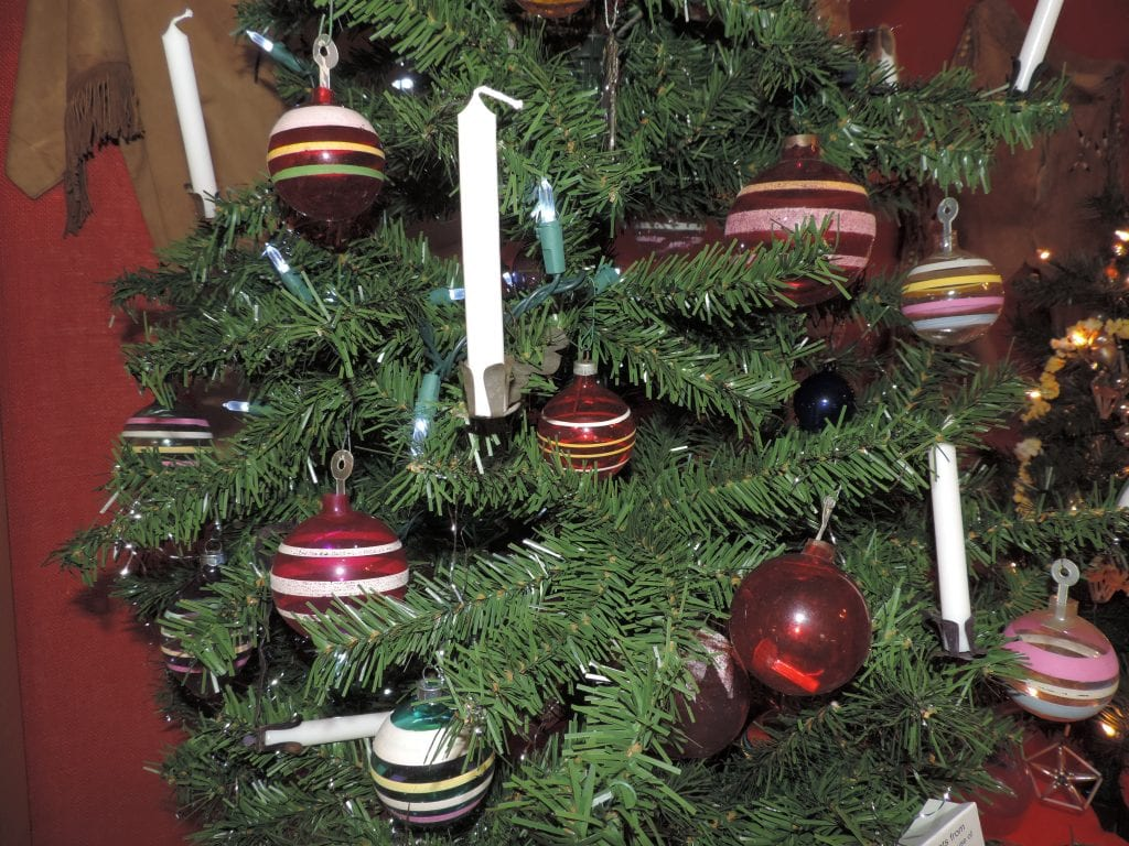 WWII ornaments, Lecompton, Christmas trees