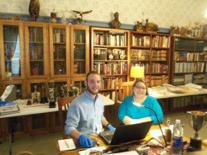 Kristie Dobbins, Andrew Gustafson, kansas humanities council, artifacts, inventory, Lecompton, Lecompton high school, douglas county rural schools, grants