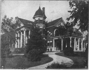 Ufton Court in 1907 from a newspaper article reporting on the death of Lucius H. Perkins.