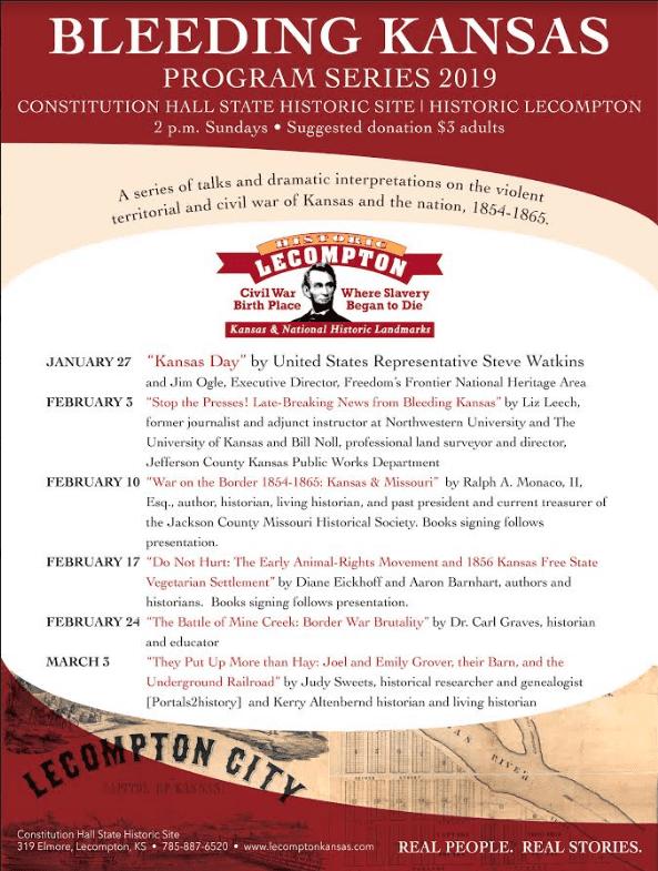 Bleeding Kansas 2019 Program Series Announced