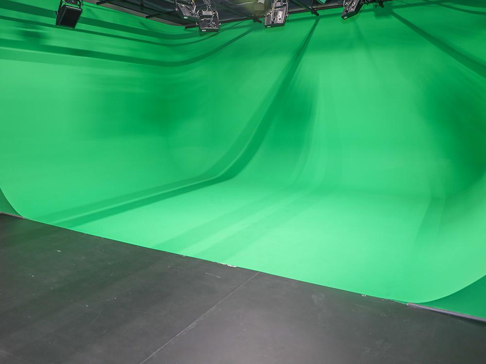 Green screen production studio