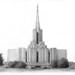 Jordan River Temple 11x14 Graphite on Paper