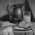Morning-Still-Life-18x24 charcoal and white chalk on toned paper
