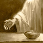 The Lord's Supper 10x20 Oil on Board