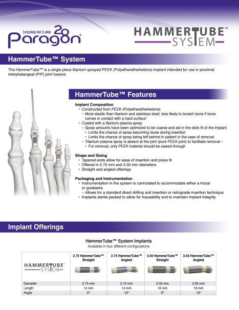 HammerTube™ System Brochure