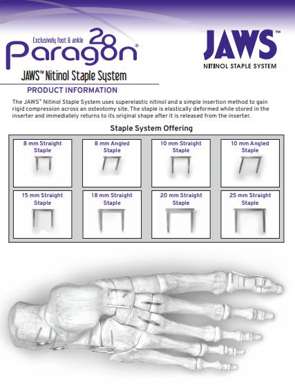 JAWS™ Nitinol Staple System Brochure