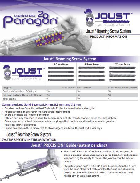 Joust™ Beaming Screw System Brochure