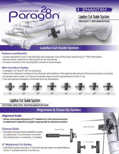 Lapidus Cut Guide System Brochure