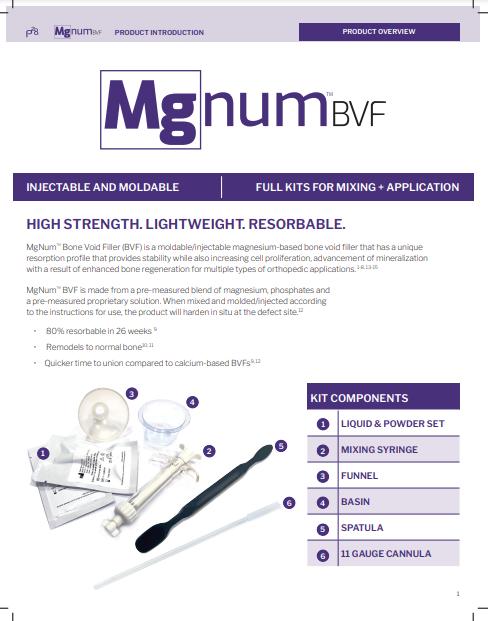 Mgnum™ Bone Void Filler (BVF) Brochure