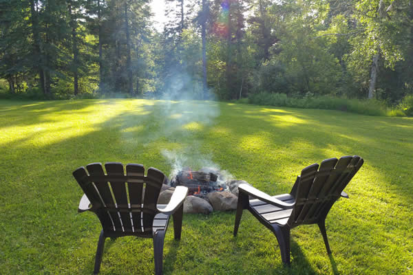 Herbster Cottage has a spacious lawn for outdoor activities.