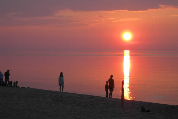 Herbster, Wisconsin beach at sunset