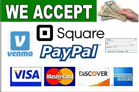 We Accept Cash, Check, or Charge