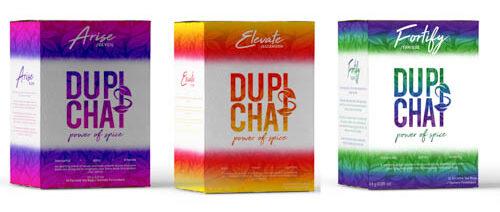colourful tea boxes for DUPIsCHAI