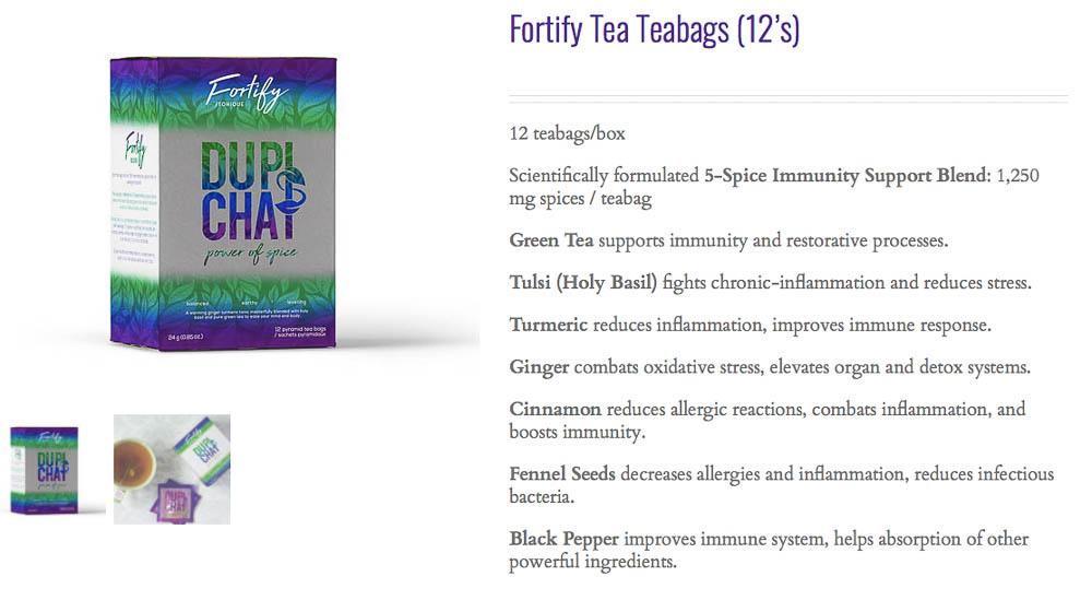 shop fortify chai tea
