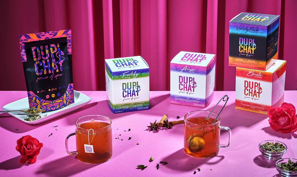 Dupi's Chai teabags and loose leaf teas
