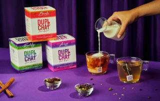 chai tea boxes, add milk to teabags