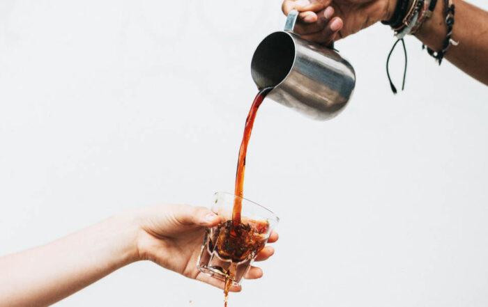 coffee pour mess