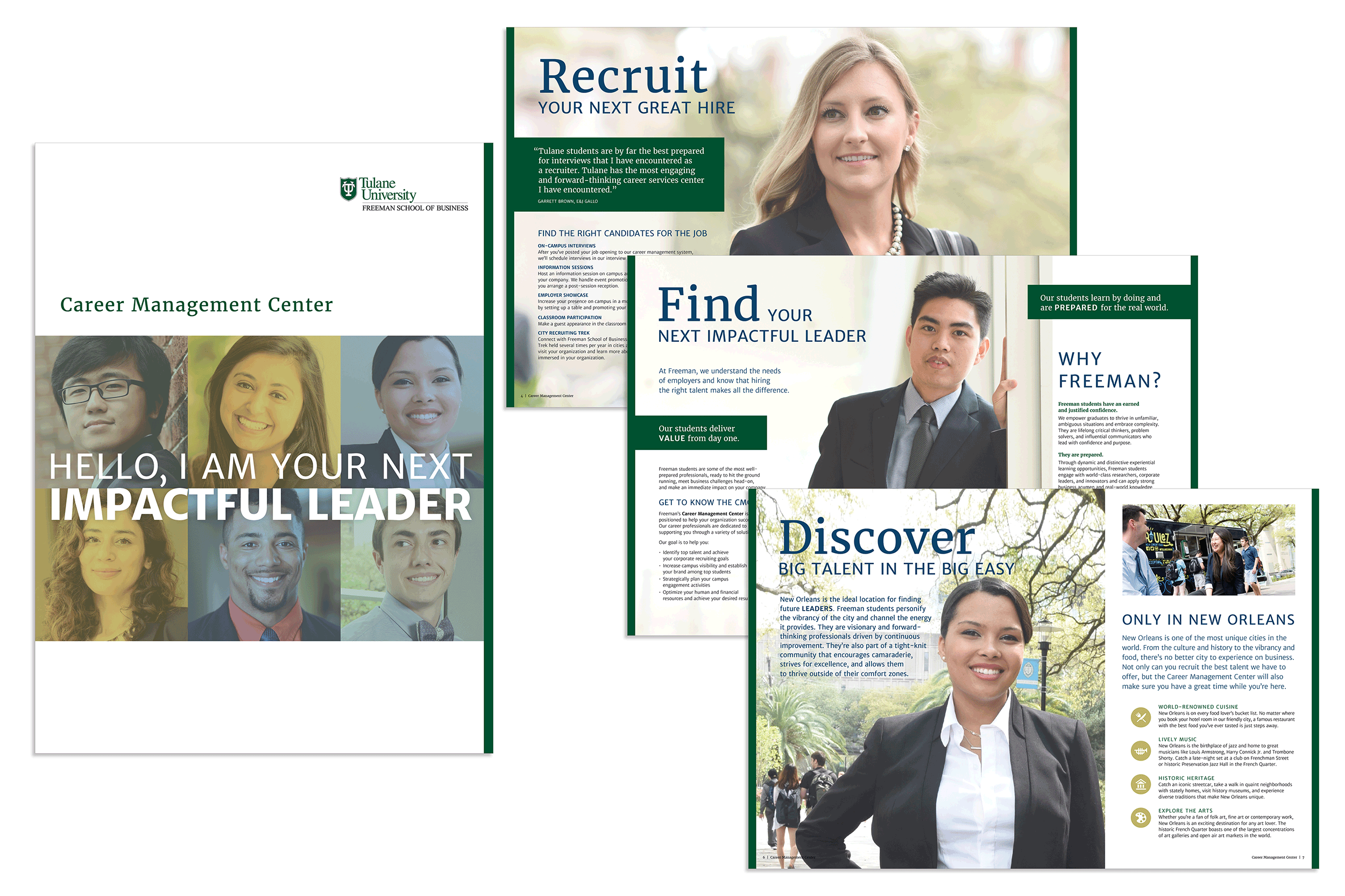 Brochure design by Virtual Apiary for Tulane