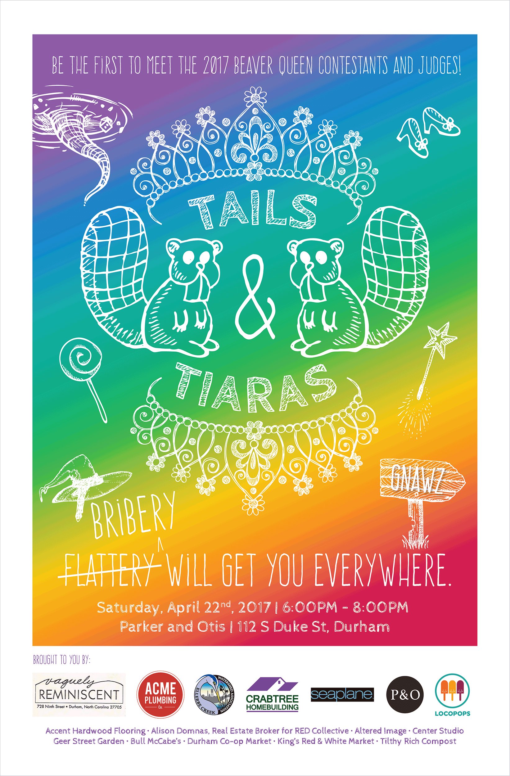 Poster design by Virtual Apiary for Tails & Tiaras