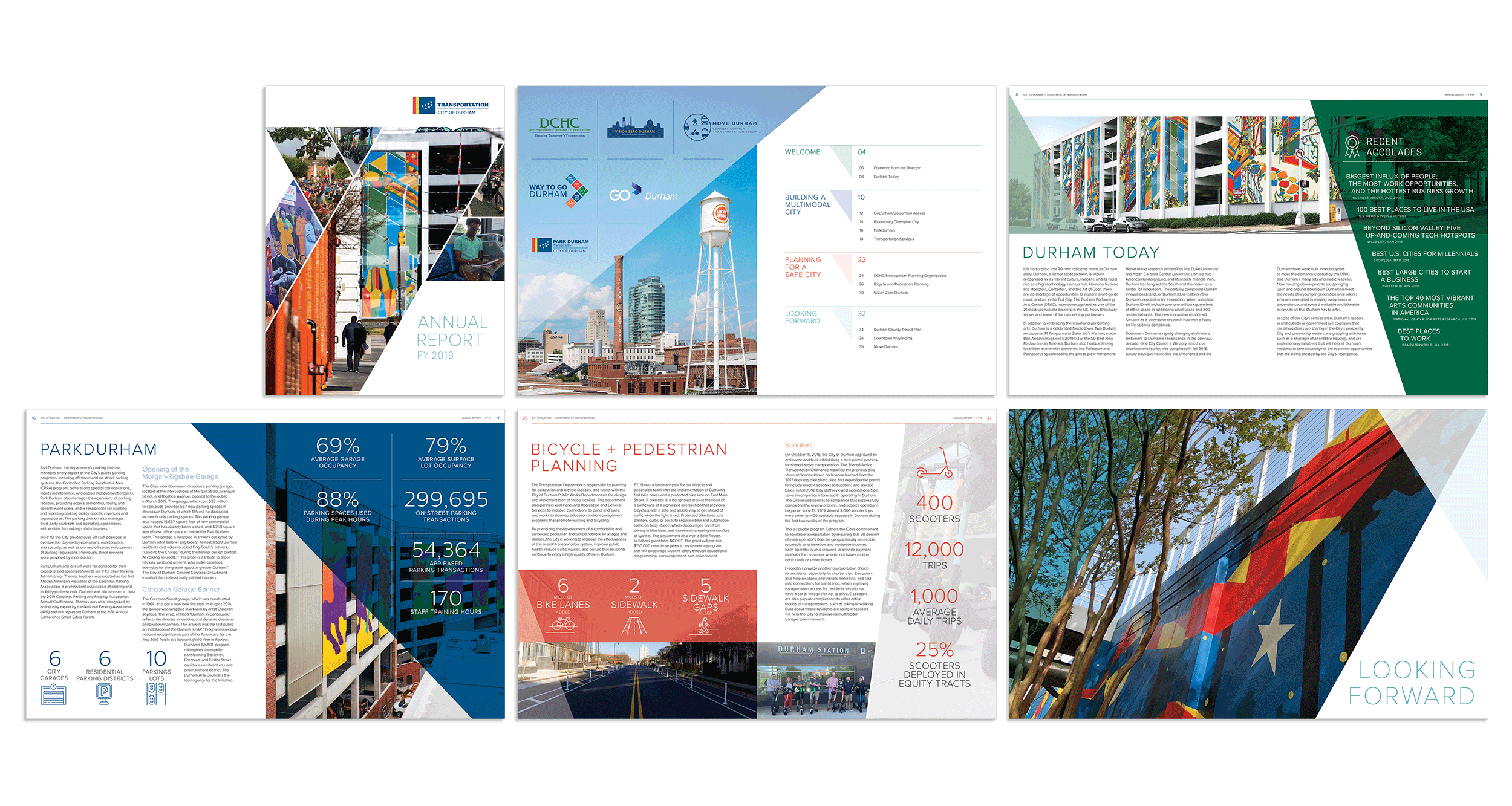Report design by Virtual Apiary for the City of Durham Department of Transportation