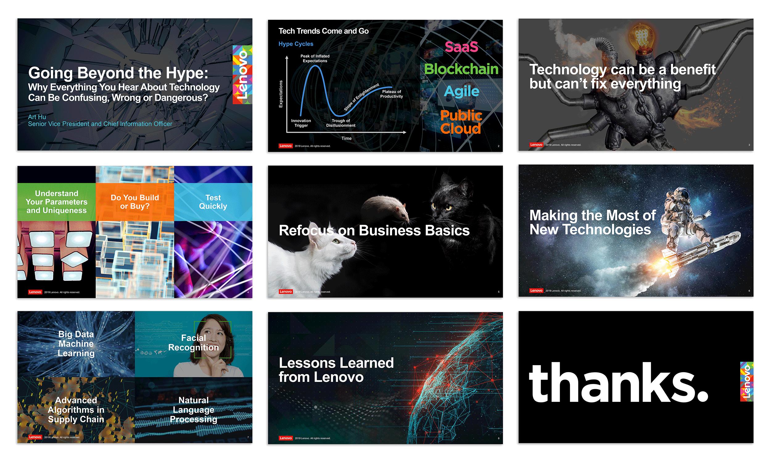 Slideshow presentation design by Virtual Apiary for Lenovo